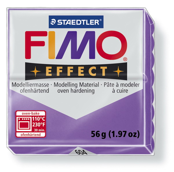 Plastelina fimo effect 56g cod cul 604 violet transp 1 buc