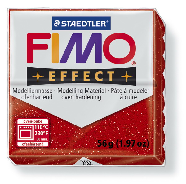Plastelina fimo effect 56g cod cul 202 rosu 1 buc