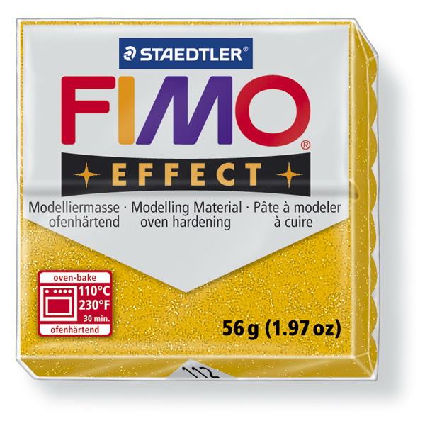 Plastelina fimo effect 56g cod cul 112 galben sidefat 1 buc