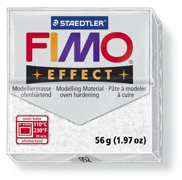 Plastelina fimo effect 56g cod cul 052 alb sidefat 1 buc