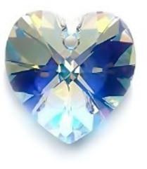 Swarovski Elements, Heart 6228-Cristal AB 10.3x10mm 1 buc