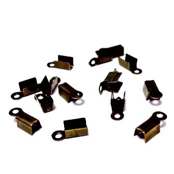 Capat prindere snur, bronz, 8x4 mm, interior 3mm 10 buc