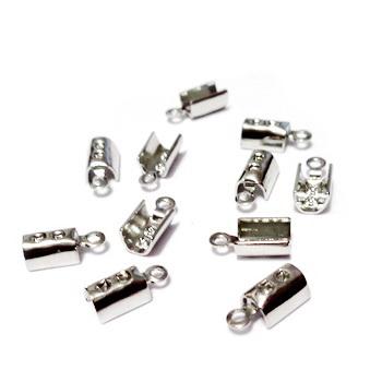 Capat prindere snur, argintiu inchis, 10x4,5 mm, interior 3mm 1 buc