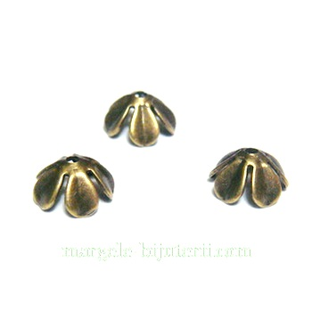 Capacel floare, bronz, 8mm 10 buc