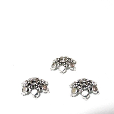 Capacel argint tibetan, cu 6 frunzulite, 11x3mm 1 buc