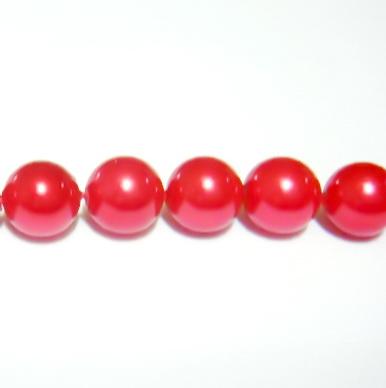Perle sidef vopsite rosii 6mm 1 buc
