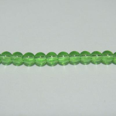 Margele sticla verzi 3mm  32 cm - cca 100 buc 1 sirag