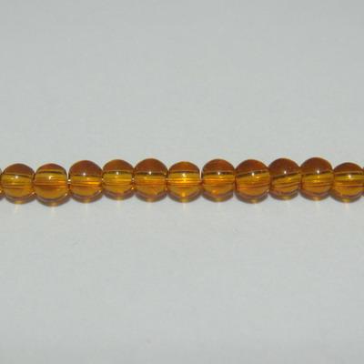 Margele sticla maro 3mm - 32 cm - cca 100 buc 1 sirag
