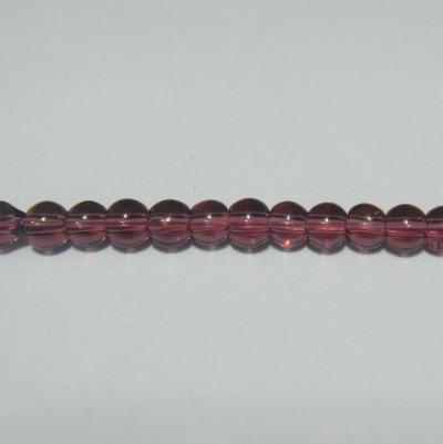 Margele sticla mov 3mm - 32 cm - cca 100 buc 1 sirag