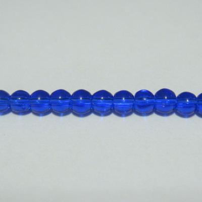 Margele sticla albastre 3mm -  32 cm - cca 100 buc 1 sirag
