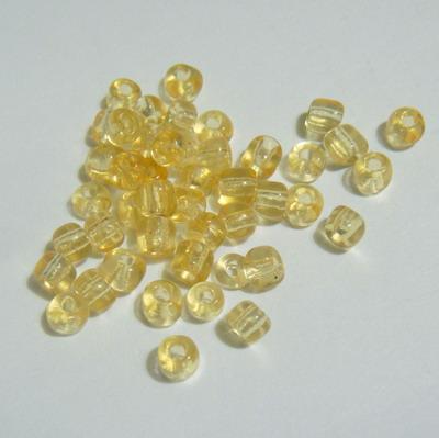 Margele nisip, transparente, culoare miere, 4mm 20 g