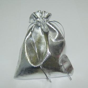 Saculeti lurex, argintii, 95x95 mm 1 buc