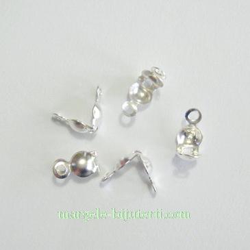 Capat/inchizatoare colier argintie 8x4mm 10 buc