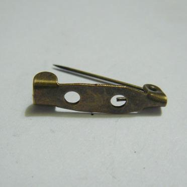 Suport brosa bronz 25x5mm, cu 2 orificii 1 buc