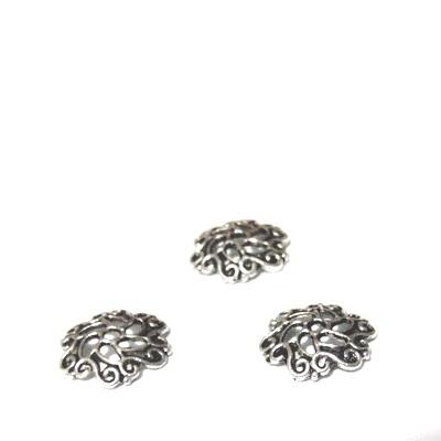 Capacel cu frunzulite, argint tibetan, 13x3mm 1 buc