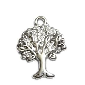 Pandantiv argint tibetan, copacel 22x17mm 1 buc