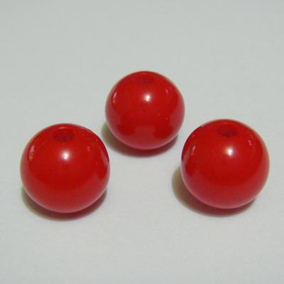 Margele plastic rosii 10mm 10 buc