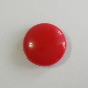 Margele plastic rosii, disc 16mm 1 buc