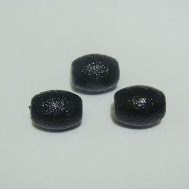 Perle sticla, stardust, ovale negre 12x10mm 1 buc