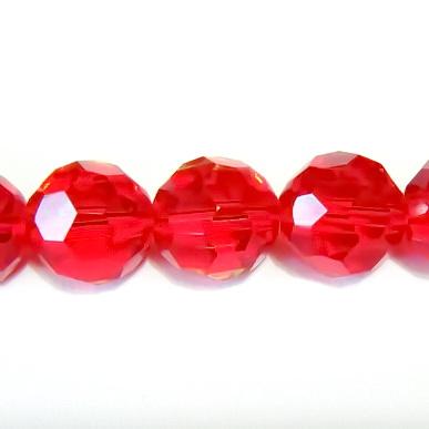 Cristal fatelat rosu 8 mm 1 buc