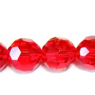Cristal fatelat rosu 10 mm 1 buc