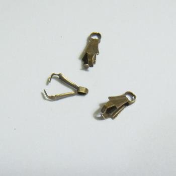 Accesorii bronz pt. pandantiv, 7x2mm 1 buc
