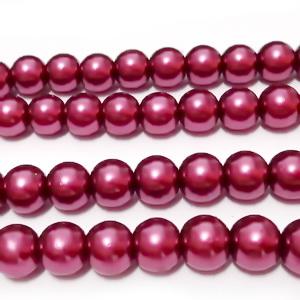 Perle sticla visinii 8mm 10 buc