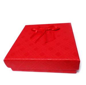 Cutie cadou rosie, 8.5x8.5x2.5cm 1 buc