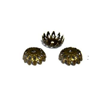 Capace filigran, bronz, 6x2mm 10 buc