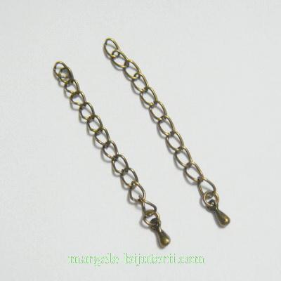 Capat lant bronz cu bobita, lungime 6cm 10 buc