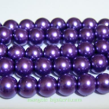 Perle sticla violet 8mm 10 buc