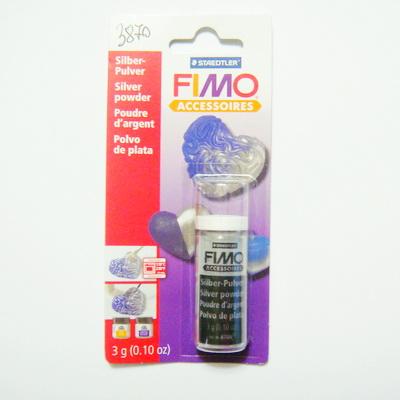 Pudra aplicatoare pe FIMO, culoare argintie - 3 gr 1 sticluta