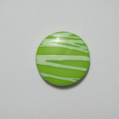 Margele plastic verde, disc 20mm 1 buc