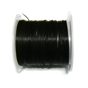Fir elastic negru, 0.6mm-bobina 9 metri 1 buc