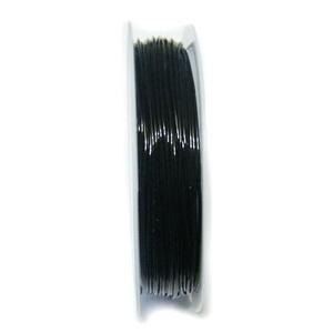 Fir elastic negru 0.8mm-rola cca 10m 1 rola 8 m