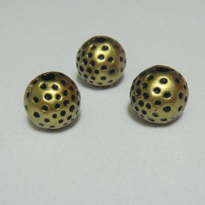 Margele sintetice decorative 10mm, culoare bronz 1 buc