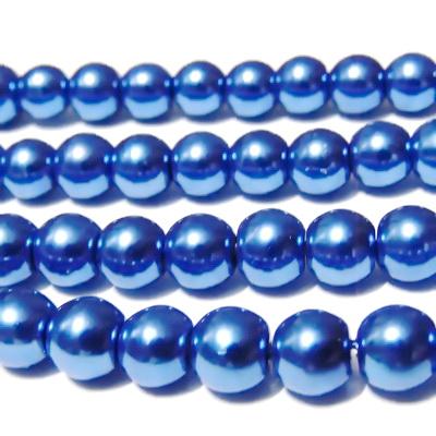 Perle sticla albastre, 8mm 10 buc
