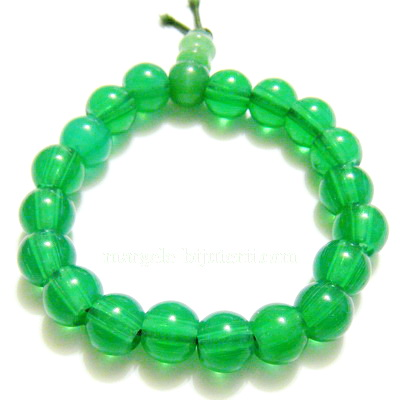 Bratara margele sticla verde 10mm 1 buc