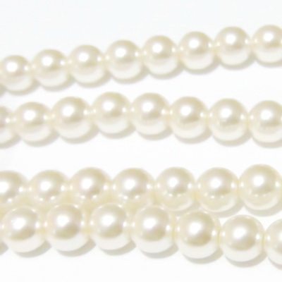 Perle sticla crem 12mm 1 buc