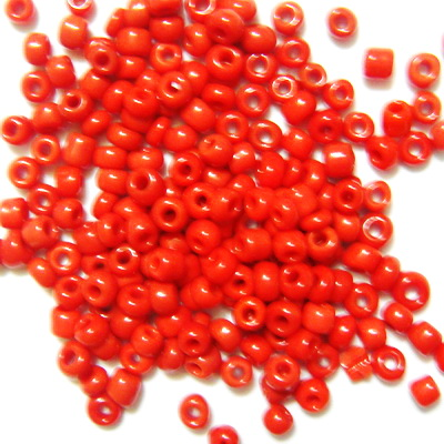 Margele nisip rosii, opace, 3mm 20 g