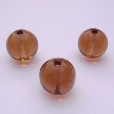 Margele sticla maro 10 mm 10 buc