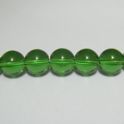 Margele sticla verzi 10mm 10 buc