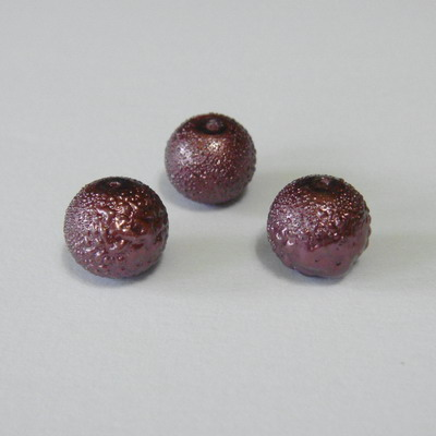 Perle sticla , stardust, maro, 8mm 10 buc