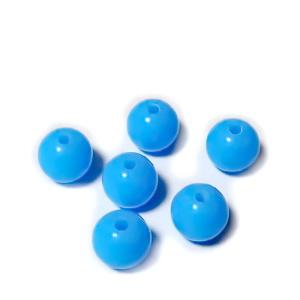 Margele plastic, sferice, albastre, 10mm 10 buc