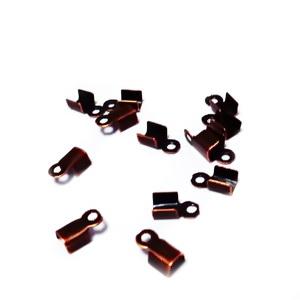Capat prindere snur 6x3x2.3mm, culoare cupru, interior 2mm 10 buc