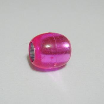 Margele plastic roz 13x12 mm,orificiu 7mm 1 buc