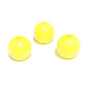 Margele plastic galben deschis, 10mm 10 buc