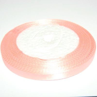 Saten roz-somon 7mm 1 rola 25 m