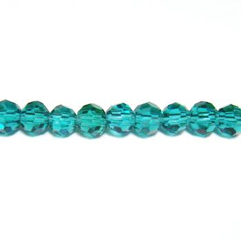 Margele sticla multifete verzi, 4mm 10 buc