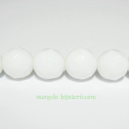 Agata alba multifete, 14mm 1 buc